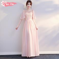 Beli Korea Fashion Style Merah Muda Baru Musim Dingin Rok Sister Kembaran Busana Pendamping Pengantin Merah Muda Model D Oem Murah