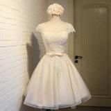 Harga Elegan Korea Fashion Style Merah Muda Perempuan Baru Gaun Malam Busana Pendamping Pengantin Warna Kuning Muda Merk Oem
