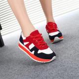Ulasan Mengenai Korea Fashion Style Merah Muda Siswa Berlari Board Sepatu Sepatu Cortez Nike A 11 Biru Tua Sepatu Wanita Sepatu Sport Sepatu Sneakers Wanita
