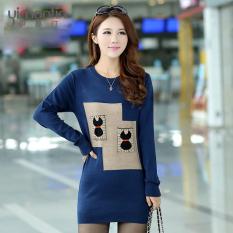 Beli Sweter Musim Gugur Dan Musim Dingin Baru Baju Dalaman Korea Fashion Style Rajutan Biru Baju Wanita Baju Atasan Pakai Kartu Kredit