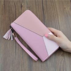 Review Tentang Korea Fashion Style Multifungsi Kapasitas Besar Handphone Tas Baru Dompet Wanita Merah Muda