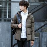 Review Korea Fashion Style Slim Ayat Pendek Tebal Empuk Kamuflase Mantel Park S Warna Terbaru