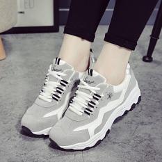 Harga Korea Fashion Style Musim Semi Baru Bernapas Sneaker Wanita Abu Abu Paling Murah