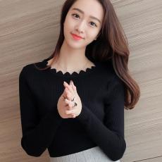 2018 Gaya Korea musim semi dan musim gugur model baru baju wanita Kemeja rajut Baju Dalaman