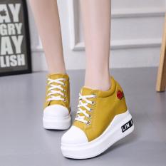 Jual Korea Fashion Style Musim Gugur Baru Sepatu Wedges Sepatu Wanita Kuning Sepatu Wanita Flat Shoes Murah