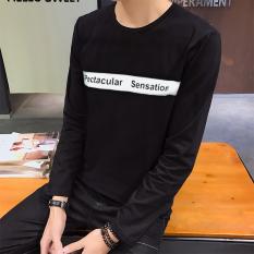 Korea Fashion Style Musim Gugur Baru Slim T Shirt Ganda S Hitam Diskon Akhir Tahun