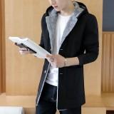 Review Toko Korea Fashion Style Musim Gugur Dan Dingin Laki Laki Slim Berkerudung Jaket Angin Hitam