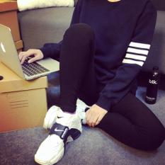 Harga Korea Fashion Style Musim Panas Bergaris Pria Lengan Pendek T Shirt Abu Abu Gelap Lintas Empat Tongkat Biru Baju Atasan Kaos Pria Kemeja Pria Original