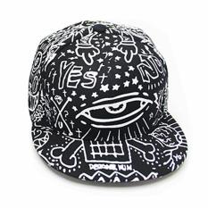 Jual Korea Fashion Style Musim Panas Grafiti Tabir Surya Matahari Topi Topi Topi Promosi Besar Kerugian 562 Hitam X186 Murah