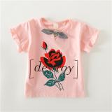 Spesifikasi Tee Korea Fashion Style Baru T Shirt Musim Panas Liar Merah Muda Terbaru