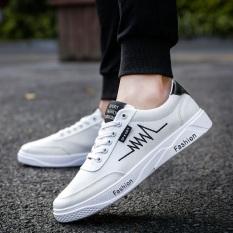 LIAN.DI Sepatu Kets Pria Kain Kanvas Pergelangan Kaki Rendah Trendi (6F-3 Putih) (6F-3 Putih)