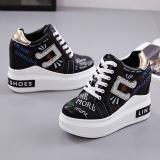 Toko Korea Fashion Style Musim Semi Dan Musim Gugur Baru Sepatu Wedges Sepatu Wanita Hitam Sepatu Wanita Flat Shoes Online Tiongkok