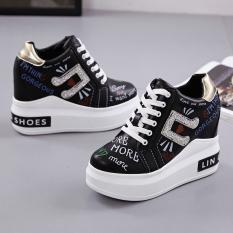 Spesifikasi Korea Fashion Style Musim Semi Dan Musim Gugur Baru Sepatu Wedges Sepatu Wanita Hitam Sepatu Wanita Flat Shoes Yang Bagus Dan Murah