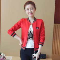Daftar Harga Korea Fashion Style Musim Semi Dan Musim Gugur Perempuan Baru Modis Kaos Sweater Merah Oem