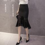 Beli Barang Korea Fashion Style Musim Semi Dan Musim Gugur Perempuan Terlihat Langsing Kemas Pinggul Rok Gaun Malam Mermaid Hitam Online