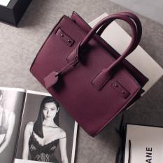 Korea Fashion Style Organ Tas Prada Tas Model Hermes Baru Tas Wanita (Ungu)