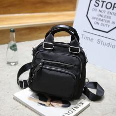 Toko Korea Fashion Style Oxford Berputar Tas Bahu Dengan Satu Tali Jinjing Tas Ransel Tas Ransel Hitam Termurah
