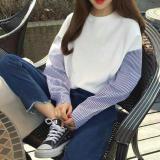 Promo Kaos Oblong Wanita Lengan Panjang Longgar Versi Korea Putih Berkualitas Tinggi Bahan Putih Berkualitas Tinggi Bahan Other