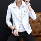 Harga Korea Fashion Style Paku Keling Pria Musim Gugur Gaun Musim Gugur Jas 207 Putih Asli Oem