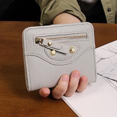 Spesifikasi Korea Fashion Style Perempuan Bagian Tipis Siswa Dompet Wanita Wanita Kecil Wallet Abu Abu Terang Tas Tas Wanita Dompet Wanita Baru