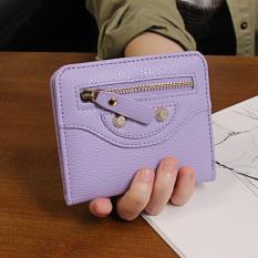 Dompet Kecil Korea Fashion Style Baru Dompet Kecil Segar Perempuan (Ungu)