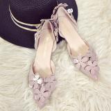 Toko Korea Fashion Style Perempuan Baru Berongga Sepatu Manis Sepatu Hak Tinggi Indah Warna Talas Sepatu Wanita High Heels Sepatu Wanita Wedges Yang Bisa Kredit
