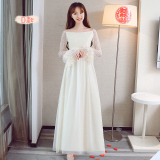 Pusat Jual Beli Korea Fashion Style Perempuan Baru Pengiring Pengantin Gaun Busana Pendamping Pengantin Warna Kuning Muda Model D Tiongkok