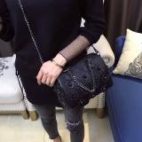 Toko Tas Bahu Dengan Satu Tali Tas Korea Fashion Style Perempuan Tas Selempang Liar Paku Keling Hitam Other Tiongkok