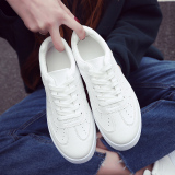 Toko Korea Fashion Style Perempuan Datar Siswa Sepatu Running Sepatu Kets Putih Putih Bernapas Online