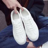Jual Korea Fashion Style Perempuan Datar Siswa Sepatu Running Sepatu Kets Putih Putih Bernapas Murah Tiongkok
