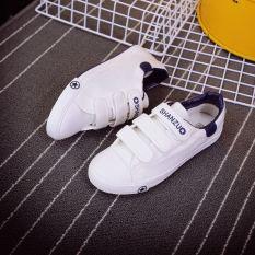 Jual Korea Fashion Style Perempuan Flat Shoes Sepatu Kasual Sepatu Sepatu Kanvas Velcro Putih Sepatu Wanita Sepatu Sport Sepatu Sneakers Wanita Satu Set