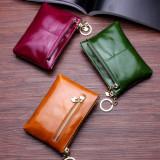 Tips Beli Korea Fashion Style Perempuan Kapasitas Besar Ritsleting Dompet Kulit Kulit Ayat Pendek Dompet Hijau Yang Bagus