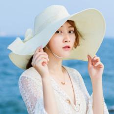 Topi Jerami Musim Panas Pantai Topi Matahari Kecil Segar Perempuan