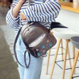 Diskon Produk Korea Fashion Style Perempuan Mini Tas Kecil Tas Ransel Champagne Emas