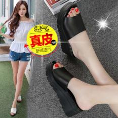 Tips Beli Korea Fashion Style Perempuan Musim Panas Baru Lereng Dengan Sandal Sendal Hitam Yang Bagus