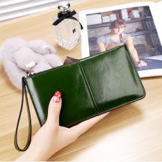 Korea Fashion Style Perempuan Paket Telepon Dompet Hijau Gelap Oem Diskon 50
