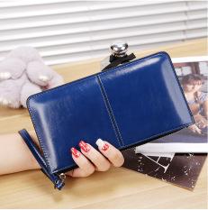 Jual Beli Online Korea Fashion Style Perempuan Paket Telepon Dompet Safir Biru