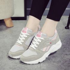 Jual Sepatu Lari Wanita Bersirkulasi Udara Santai Versi Korea Abu Abu Abu Abu Di Bawah Harga