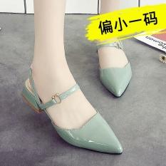 Spesifikasi Korea Fashion Style Perempuan Set Kaki Tergelincir Perempuan Sepatu Dengan Sandal Hijau Kecil Satu Yard Oem