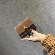 Spesifikasi Korea Fashion Style Perempuan Lipat Siswa Dompet Uang Receh Dompet Kecil Coklat Tas Tas Wanita Dompet Wanita Bagus