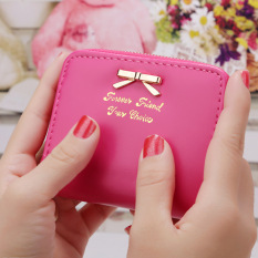 Review Toko Korea Fashion Style Perempuan Wanita Paragraf Pendek Dompet Dompet Kecil Mawar Merah