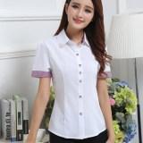 Toko Korea Fashion Style Polyester Putih Produk Baru Bekerja Pakaian Putih Baju Wanita Baju Atasan Kemeja Wanita Blouse Wanita Online Di Tiongkok