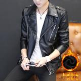 Korea Fashion Style Pria Beludru Jas Tampan Jaket Kulit Hitam Oem Murah Di Tiongkok