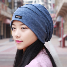 Beli Korea Fashion Style Pria Dan Wanita Wanita Pria Topi Sarung Bantal Topi Biru Online