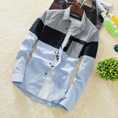 Spek Korea Fashion Style Pria Lengan Panjang Musim Gugur Slim Baju Kemeja Cs43 Abu Abu Untuk Mengirim Lengan Panjang Putih T Shirt