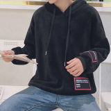 Harga Korea Fashion Style Pria Musim Gugur Dan Dingin Baru Jaket Hoodie Kaos Sweater Hitam Online Tiongkok