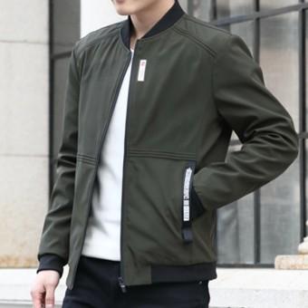 Harga preferensial Jaket Pria Musim Semi dan Musim Gugur 2018 model baru  membentuk tubuh Jaket Gaya Korea Tren model tipis anak muda pakaian Tampan  Jaket ... bf8e88c9f7