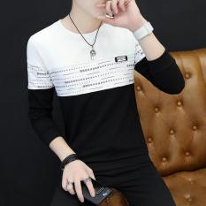 Korea Modis Gaya Pria Remaja Baju Musim Gugur Baru Lengan Panjang Kaos (1120 Hitam)