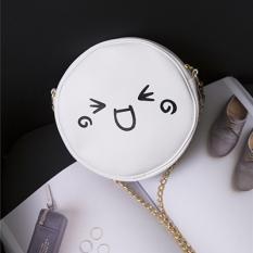 Tas Selempang Korea Fashion Style Putih Tas Bulat Imut Kecil