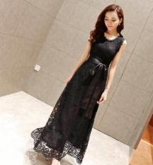 Korea Fashion Style Putih Terlihat Langsing Elegan Slim Gaun Gaun (Hitam) baju wanita dress wanita Gaun wanita